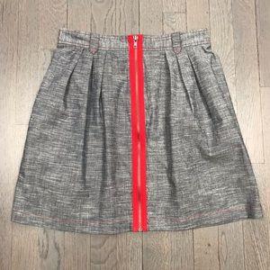 BB Dakota Jack Chambray Red Zipper Skirt